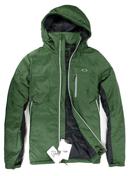 美國百分百【全新真品】Oakley 男大衣 防風 防水 超輕 長外套 收納帽 Thinsulate 3M專利 綠 S M