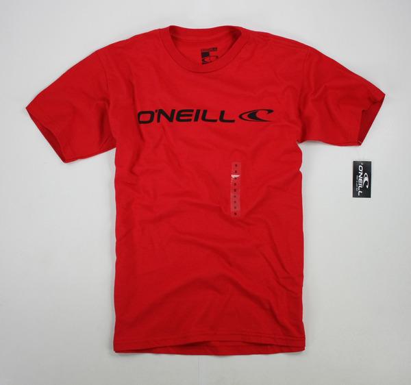 美國百分百【全新真品】Oneill Tee 衝浪T 男款 上衣 素T 紅色 logoT 短袖 T恤 T-shirt S號 現貨