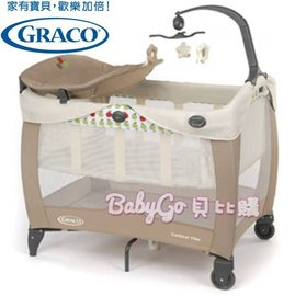 *babygo*{預計107年1月下旬到貨}GRACO 嬰幼兒電動遊戲床 Contour Electra Vibe【 繽紛蘋果點】