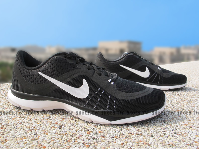 Shoestw【831217-001】NIKE WMNS Flex Trainer6 慢跑鞋 黑白 女款