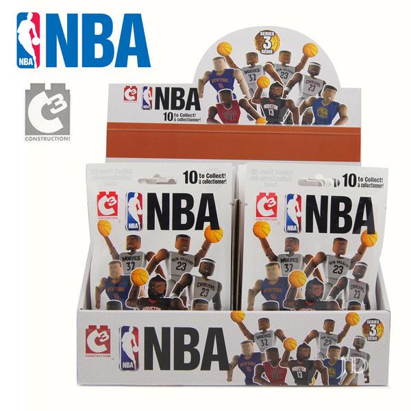【C3 TOYS】超可動積木人偶 NBA系列 - 球員驚喜包 21500 (款式隨機)