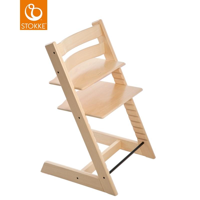 挪威【Stokke】Tripp Trapp 成長椅-原木