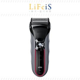 當代美學 日本原裝 BRAUN 百靈【320S-5】電動刮鬍刀 電鬍刀 浮動三刀頭 網狀刀頭緊貼密合 水洗
