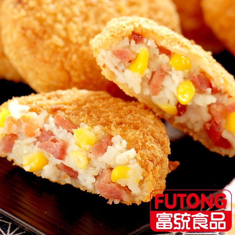 【富統食品】培根可樂餅(35g/片;10片/盒)