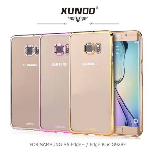 XUNDD 爵士電鍍保護殼/SAMSUNG Galaxy S6 Edge+ G928F/手機殼/透明【馬尼行動通訊】