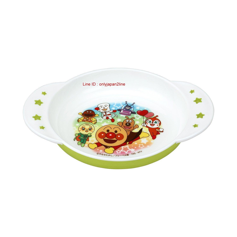 【真愛日本】17010500004塑膠雙耳點心碗綠底-ANP  電視卡通 麵包超人 細菌人 餐碗 兒童餐具