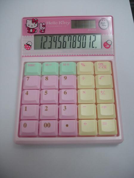 Hello Kitty 12位鍵盤按鍵計算機(KT-2335)