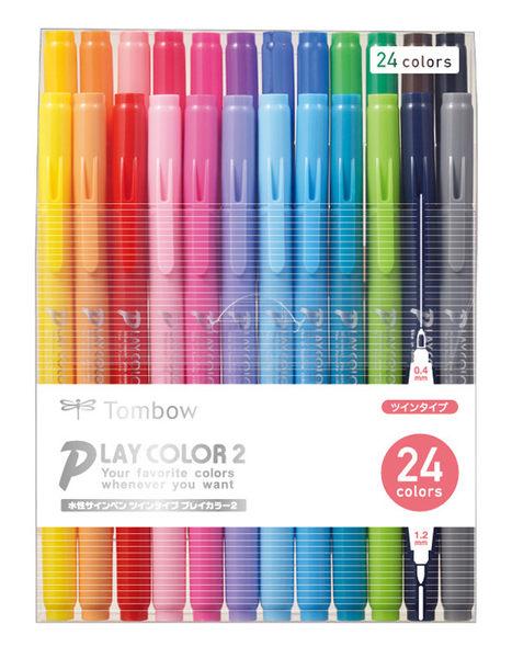 TOMBOW GCB-012 雙頭彩色筆24色