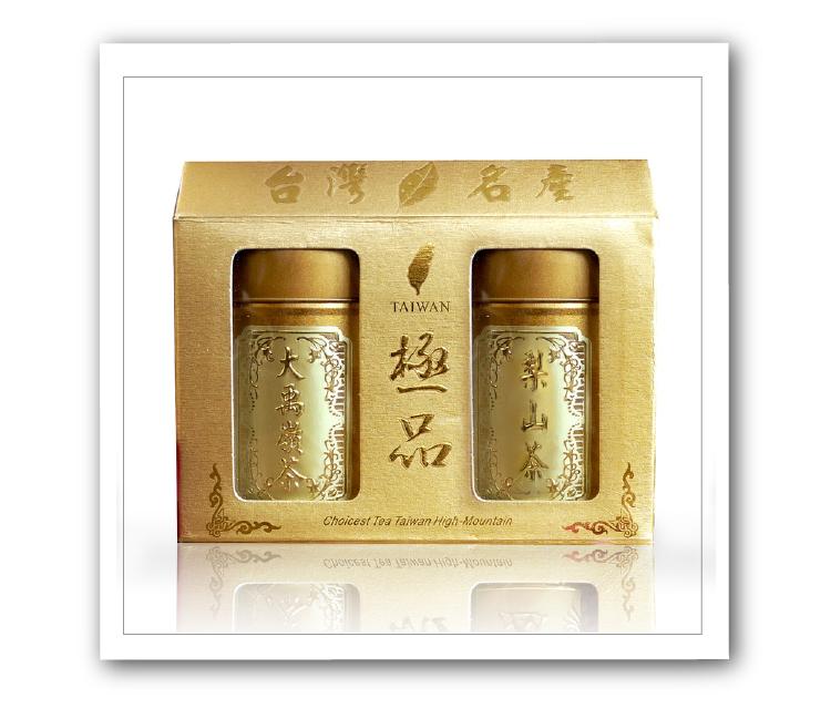 【名池茶業】大禹嶺+梨山手採高山茶葉禮盒75公克x2-青茶(金選茗茶款)