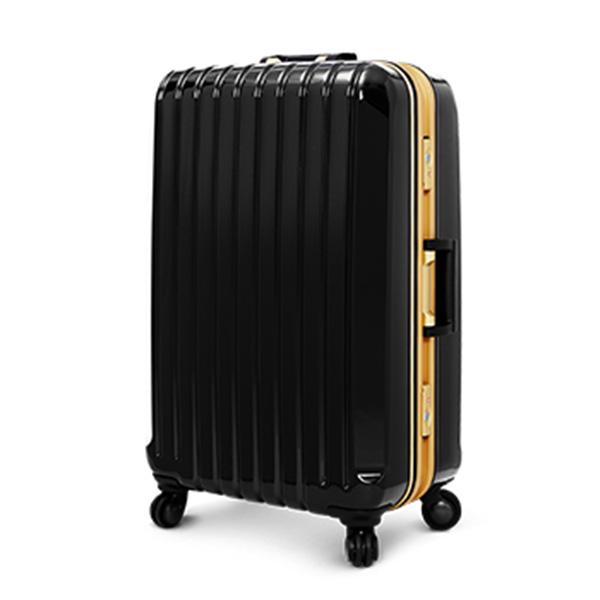 【加賀皮件】 Deseno Weekender 瑰麗?燦 黑色金彩 深鋁框PC鏡面行李箱/旅行箱 26吋 2254-26BG