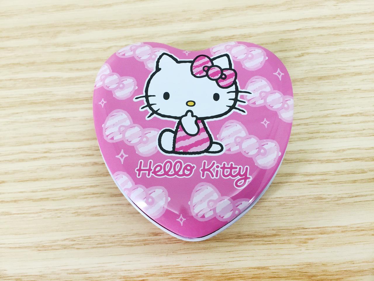 【真愛日本】16011400031 心型鐵盒附便條-KT粉 KITTY 凱蒂貓 三麗鷗 文具 便條紙 MEMO