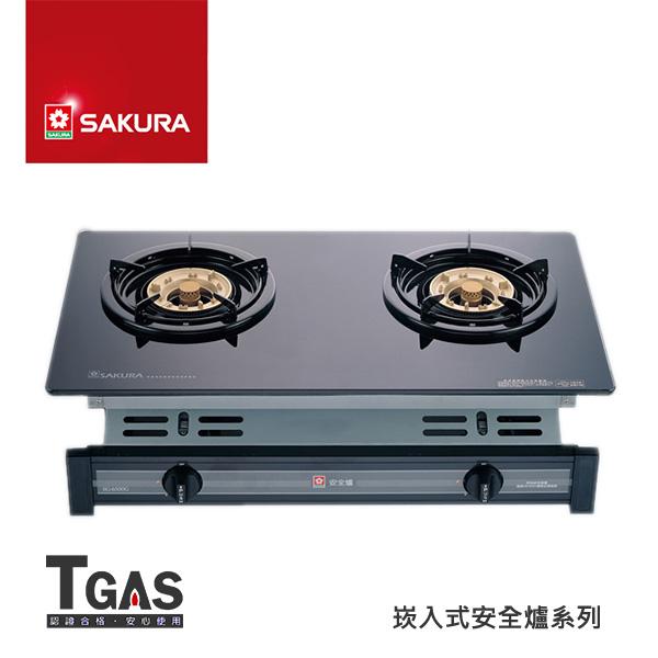 SAKURA櫻花 兩口玻璃面板崁入爐【G-6500KG】含基本安裝