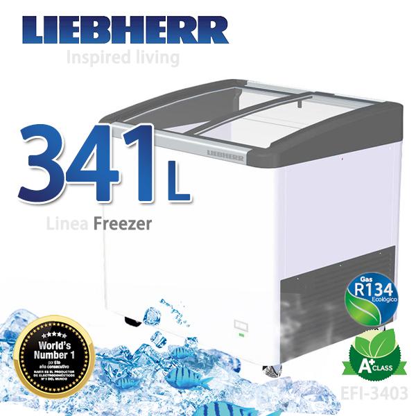 LIEBHERR德國利勃 341L弧形玻璃冷凍櫃【EFI-3403】