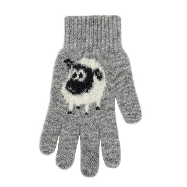 【灰色】紐西蘭100%美麗諾羊毛手套*羊咩咩