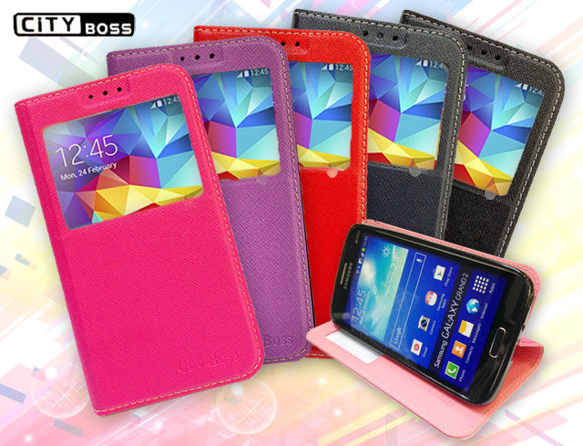 Note4 手機套 CITY BOSS 望系列 三星 Samsung Galaxy NOTE 4/N910/N910U/N9100 十字紋 視窗側掀皮套/手機 側掀 皮套/磁扣/磁吸/側翻/保護套/背..