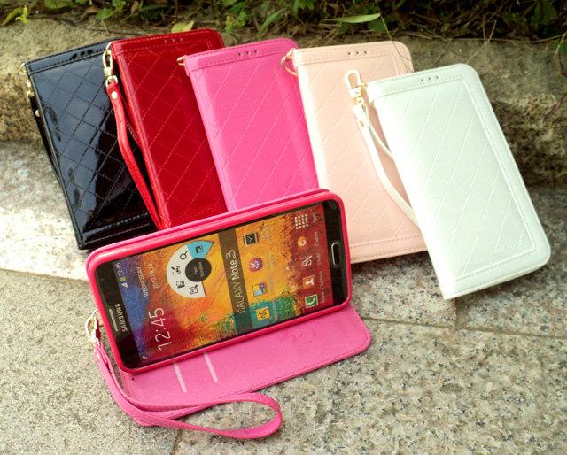 Core Plus 手機套 經典時尚菱格亮皮 三星 Samsung GALAXY G3500 手機側掀保護皮套/磁扣/保護套/背蓋/可站立/軟膠套/TIS購物館