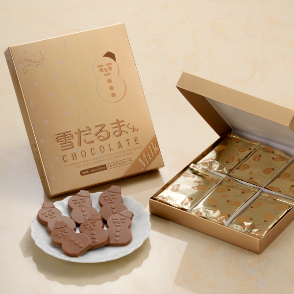 [石屋製?出品|數量限定|冬季限定]北海道白色戀人季節限定禮盒 雪人巧克力18枚入-牛奶巧克力
