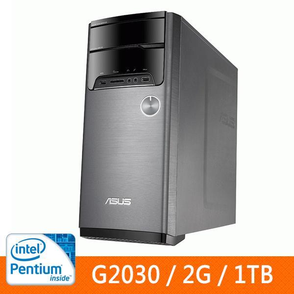ASUS M32AA-2036A0A(G2030)桌上型電腦(NO OS) G2030/DDRIII 1600 2GB SO-DIMM/SATA 1TB/DVD燒錄器/讀卡機
