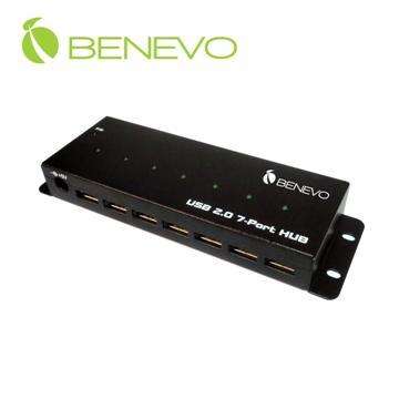 BENEVO UltraUSB 工業級 7埠USB2.0集線器(附3.5A變壓器) ( BUH237 )