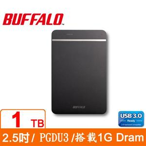 Buffalo PGDU3 1TB USB3.0 2.5吋薄型外接硬碟