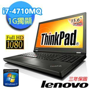 Lenovo ThinkPad T540p 20BE00B7TW 15.6吋 i7-4710MQ 四核獨顯商務混碟筆電 15.6吋FHD畫質/i7-4710MQ/8G/1G獨/1TB+16GmSATA..