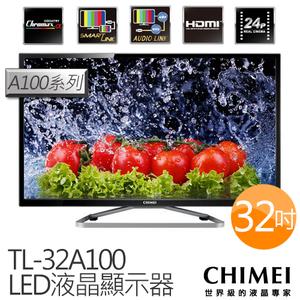 CHIMEI 奇美 TL-32A100 32吋 液晶電視1366*768高解析 直下式LED背板 720°立體色域顯色科技 178°超廣角可視角度