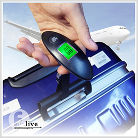 【aife life】LED簡便手提行李秤/發光手握式電子秤 LED液晶電子秤 行李秤 手提秤 快遞秤 廚房秤