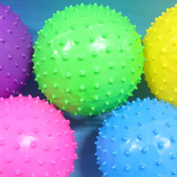 中型按摩球 17cm安全球 復健球 刺刺球 尖球/一個入{定60}~睿 健身球 充氣球 訓練球
