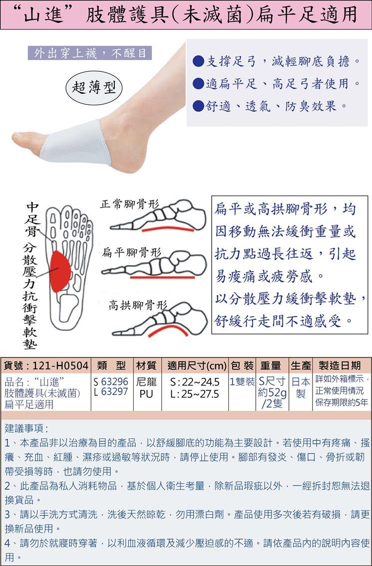 肢體護具:扁平足或高足弓者使用,可支撐足弓,減輕腳底負擔,舒緩行走間的不適感。舒適、透氣、防臭!