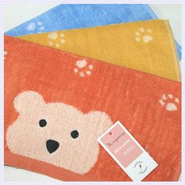 【esoxshop】╭*小熊雙面印花方巾(34x34cm) 共3色╭*居家必備良品《毛巾/手巾/方巾》