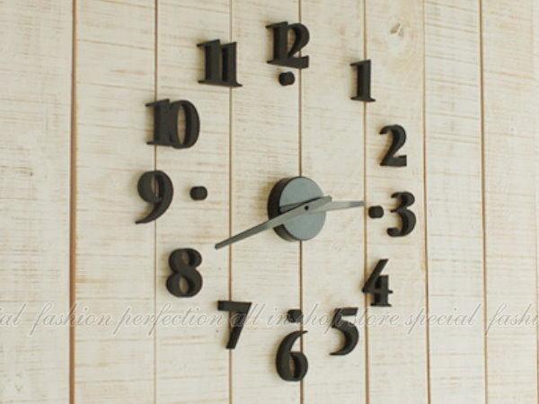 韓版 創意DIY數字掛鐘 時尚藝術時鐘 DIY數字時鐘 黑色【GD440】◎123便利屋◎