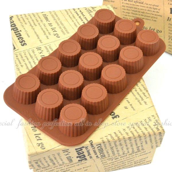 ◎123便利屋◎【DG265】15連瓶蓋造型巧克力模 模具 模型 情人節巧克力造型
