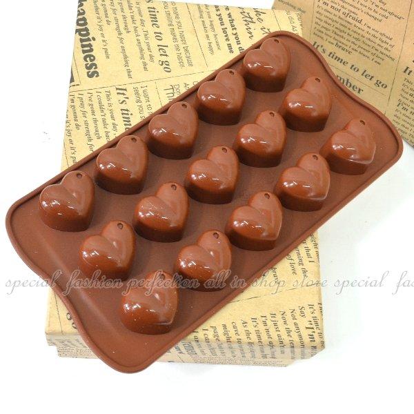 15連水滴愛心造型巧克力模 模具 模型 情人節巧克力造型【DG266】◎123便利屋◎