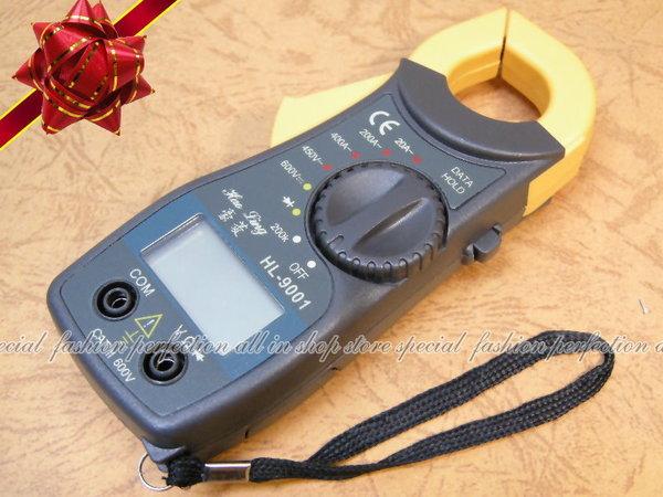 鉗夾式數位電流勾表HL-9001 數位電錶.可量直流/交流【DD225】◎123便利屋◎