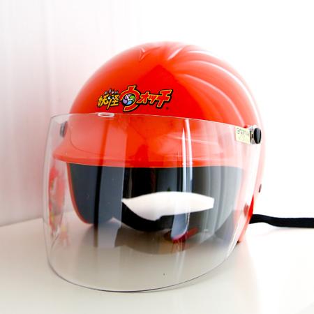 正版妖怪手錶吉胖喵兒童安全帽 附面罩 機車安全帽 四分之三 騎士帽 台灣製 亮面 鏡片【N201301】