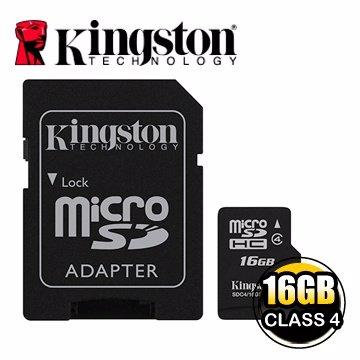 *╯新風尚潮流╭*金士頓記憶卡 16G 16GB Micro SDHC Class 4 C4 SDC4/16GB