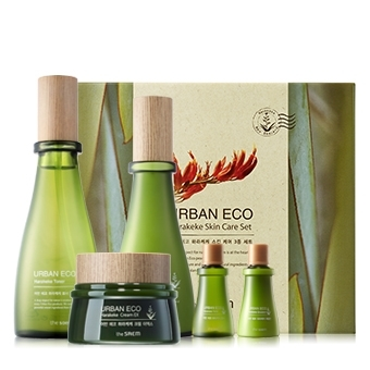韓國the SAEM Urban Eco Harakeke 保濕護膚三件組 180ml+135ml+60ml Urban Eco Harakeke Skin Care 3 Set【辰湘國際】