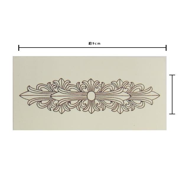 【現貨商品】【Chrome Hearts】刺青貼紙Floral Cross (CHETC-008-3 0088420000)
