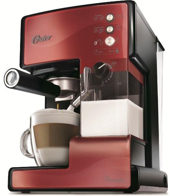 ◤贈原廠奶泡盒◢ ◤特A級福利品‧數量有限◢ 美國 OSTER 奶泡大師義式咖啡機 -焰紅色 BVSTEM6601