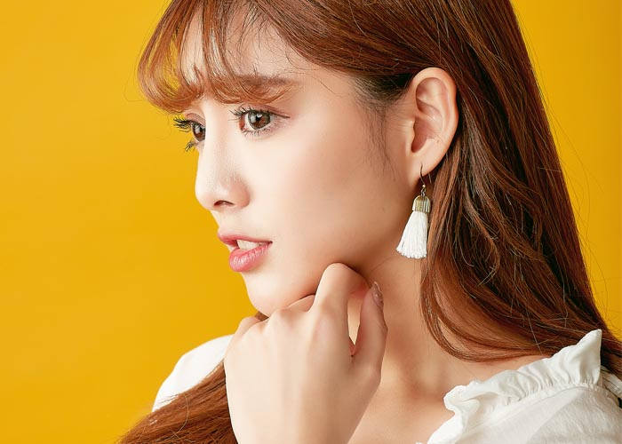 韓國飾品,黃銅耳環,流蘇耳環,垂墜耳環,復古耳環,針式耳環,夾式耳環