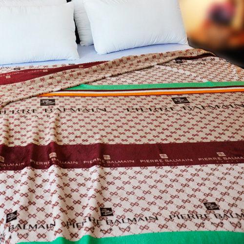 【經典圖騰】雨傘牌 法蘭絨舒眠保暖毛毯 ◆ HOUXURY台灣製