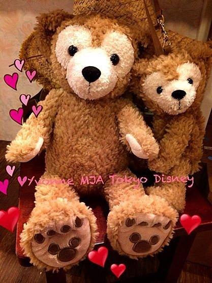 *Yvonne MJA日本代購*東京迪士尼Disney Bear海洋樂園限定正品Duffy達菲熊雪莉玫熊S號絨毛娃娃