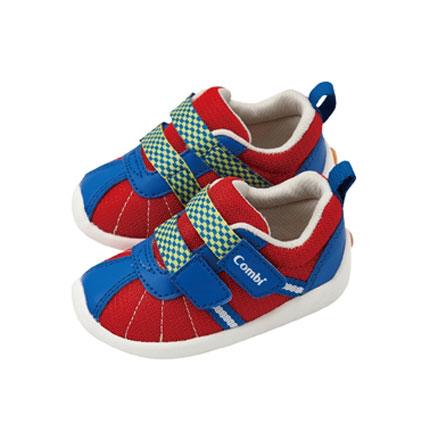 【悅兒樂婦幼用品?】Combi 康貝 微風暖洋幼兒機能鞋-豔陽紅