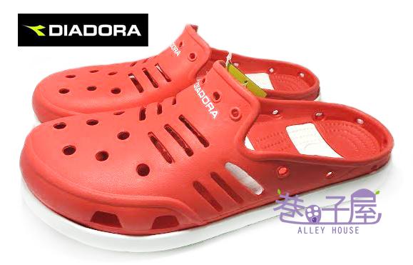 【巷子屋】義大利國寶鞋-DIADORA迪亞多納 男款空氣河馬拖鞋 懶人鞋 洞洞鞋 [2022] 紅 超值價$198