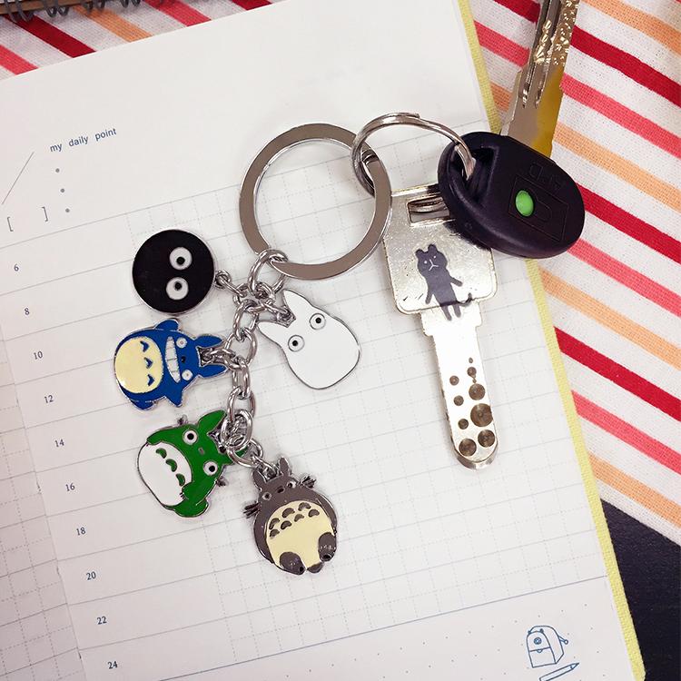 PGS7 日本卡通系列商品 - 龍貓家族 ??????? Totoro 造型鐵片鑰匙圈 吉卜力 宮崎駿