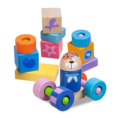 【悅兒樂婦幼用品?】Chicco 木製玩具3D益智積木組-23pcs