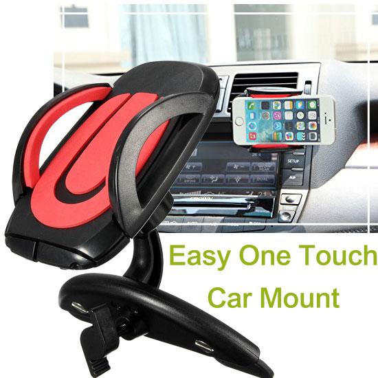 【CD槽式】通用車內用手機架/萬用車架/車上固定架/車用手機支架/固定架 Max 5.8吋