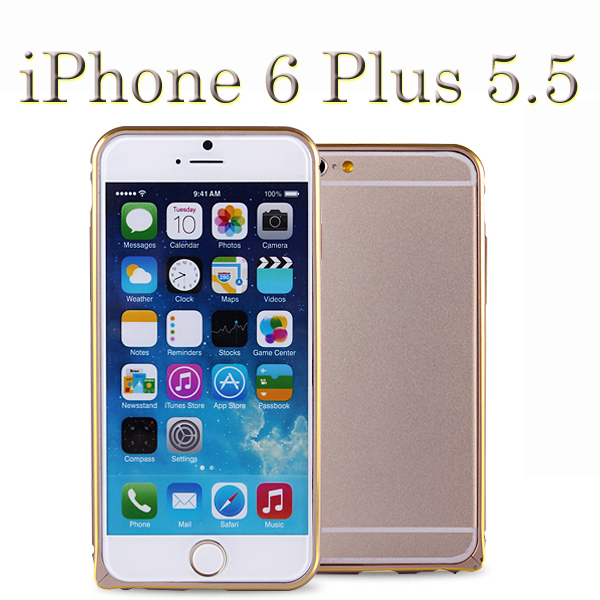 【雙色鋁邊框、贈保護貼】Apple iPhone 6 Plus 5.5吋 海馬扣鋁框保護殼/超薄金屬框手機殼/免螺絲硬殼/保護框套