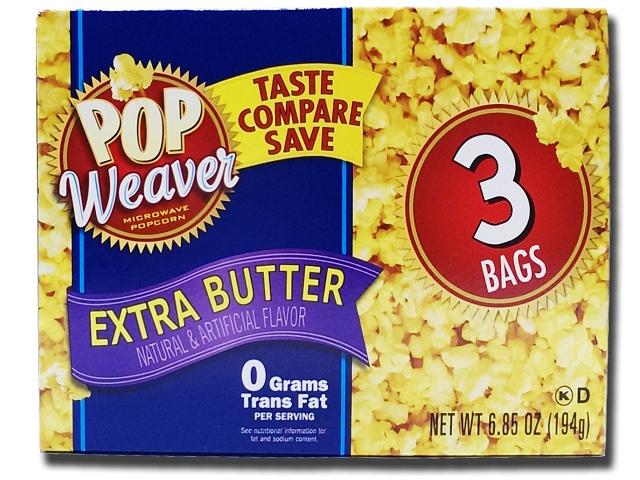 美國進口 POP Weaver 微波爆米花-重奶油口味194g