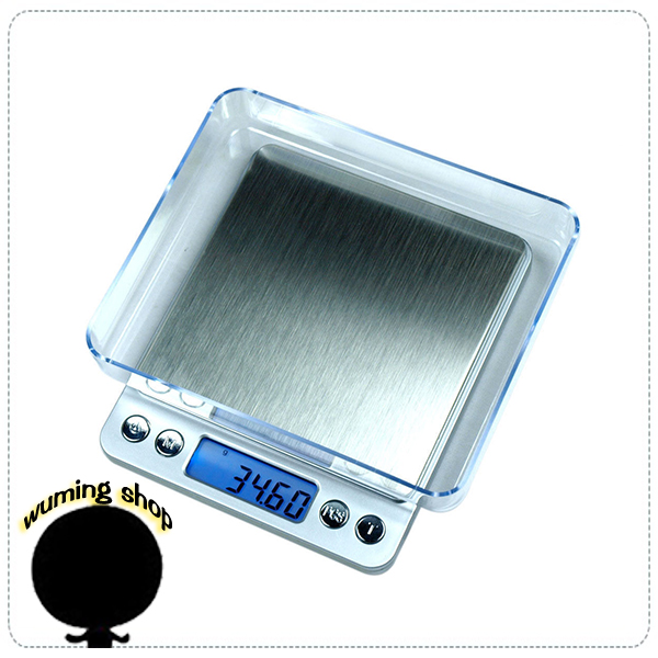 『無名』 液晶顯示 精密 電子秤 500g/0.01g 3kg/0.1g 不銹鋼 珠寶秤 迷你秤 料理秤 烘焙秤 H07107